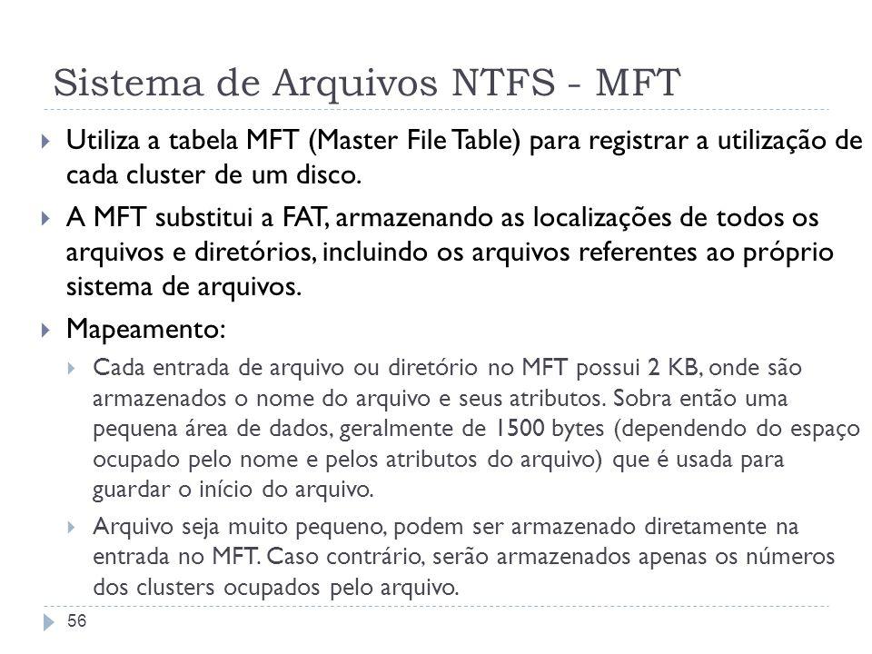 Sistema de Arquivos NTFS - MFT