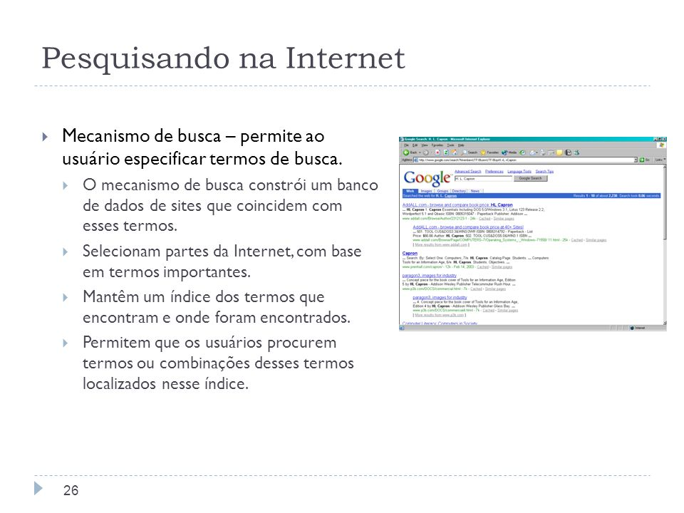 Pesquisando na Internet