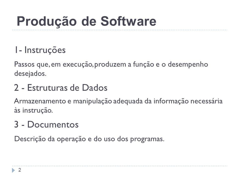 Produção de Software 1- Instruções 2 - Estruturas de Dados