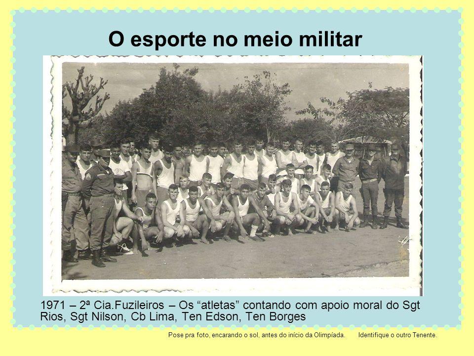 O esporte no meio militar