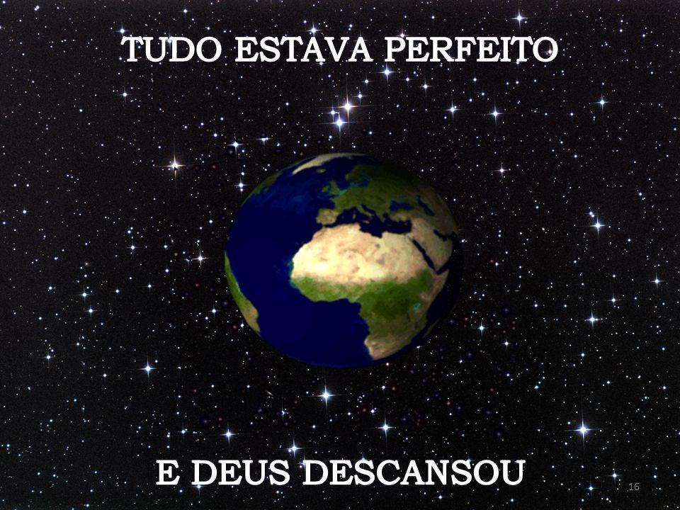 TUDO ESTAVA PERFEITO E DEUS DESCANSOU