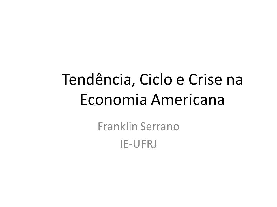 Tendência, Ciclo e Crise na Economia Americana