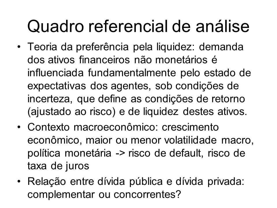 Quadro referencial de análise