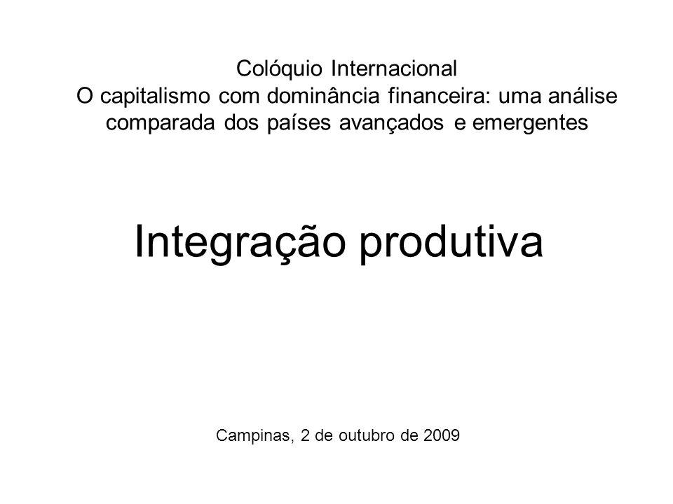 Colóquio Internacional O capitalismo com dominância financeira: uma análise comparada dos países avançados e emergentes