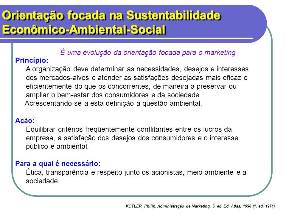 Orientação focada na Sustentabilidade Econômico-Ambiental-Social