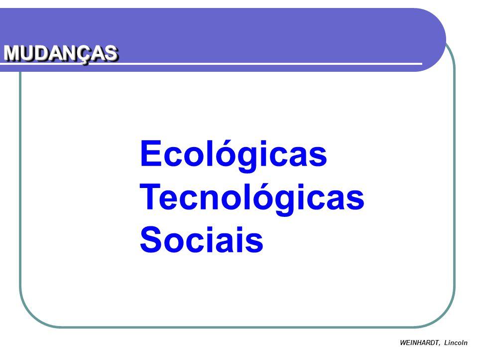MUDANÇAS Ecológicas Tecnológicas Sociais WEINHARDT, Lincoln