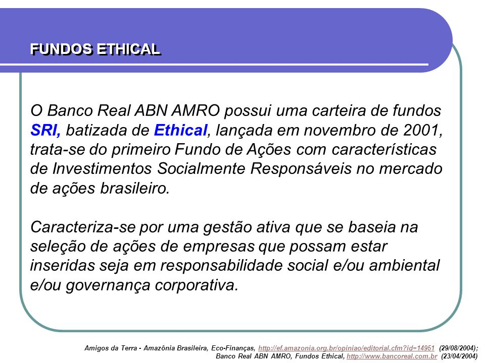 FUNDOS ETHICAL