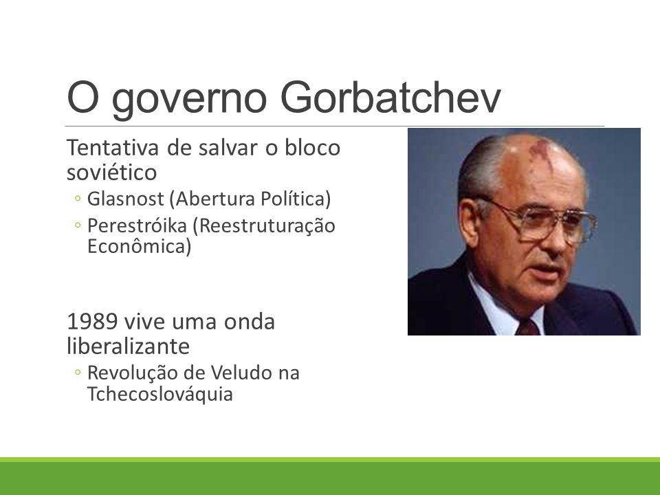 O governo Gorbatchev Tentativa de salvar o bloco soviético