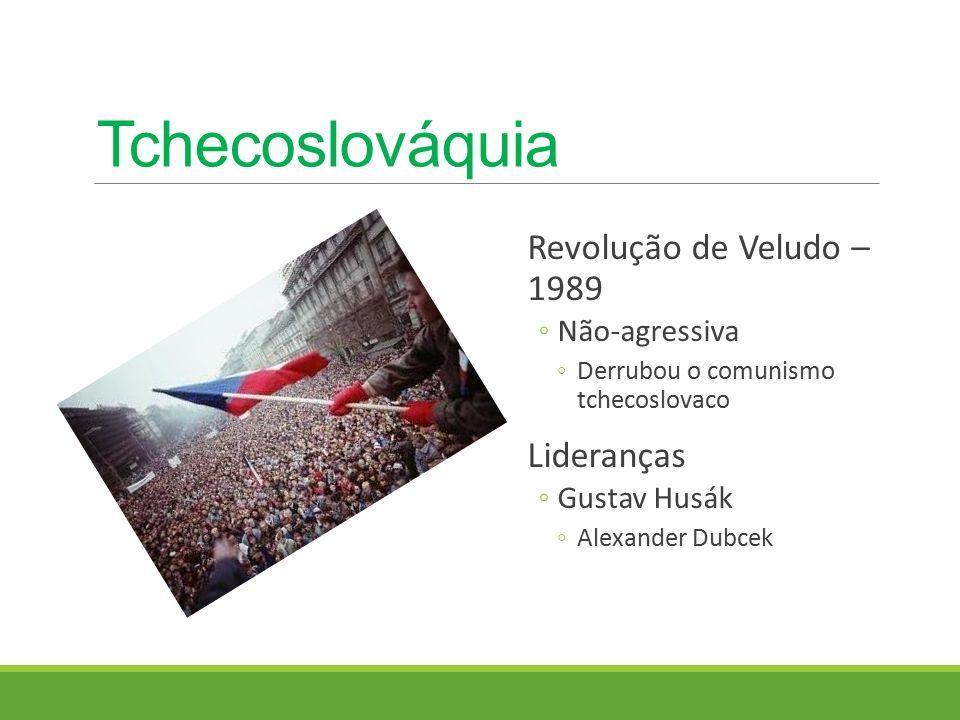 Tchecoslováquia Revolução de Veludo – 1989 Lideranças Não-agressiva