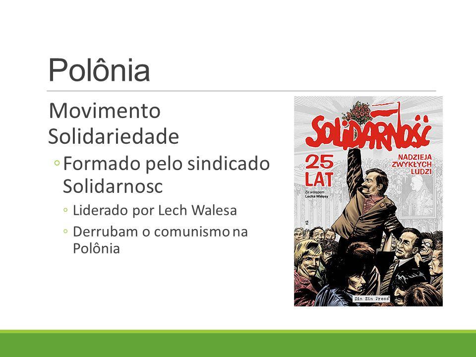 Polônia Movimento Solidariedade Formado pelo sindicado Solidarnosc