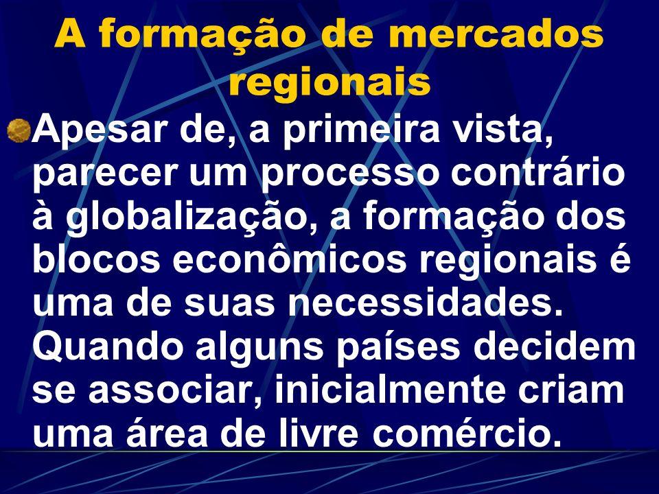 A formação de mercados regionais