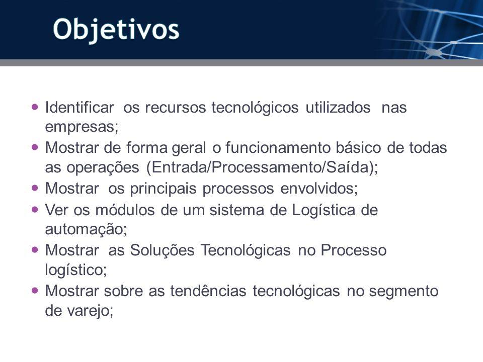ObjetivosIdentificar os recursos tecnológicos utilizados nas empresas;