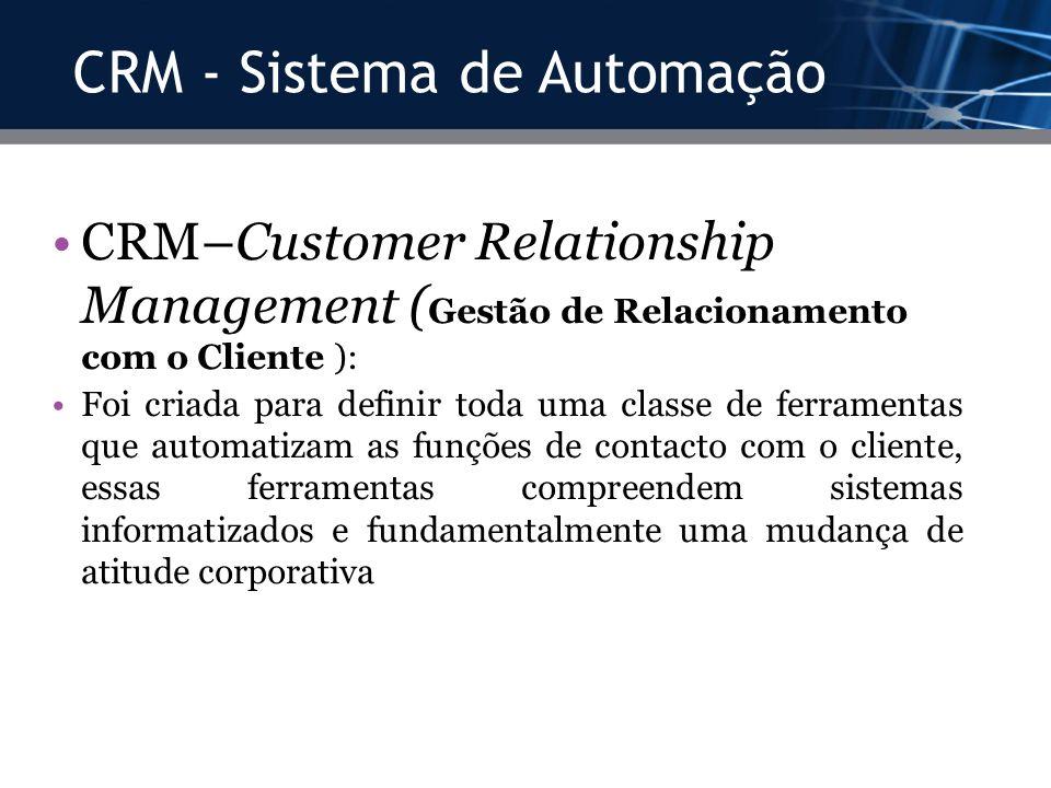 CRM - Sistema de Automação