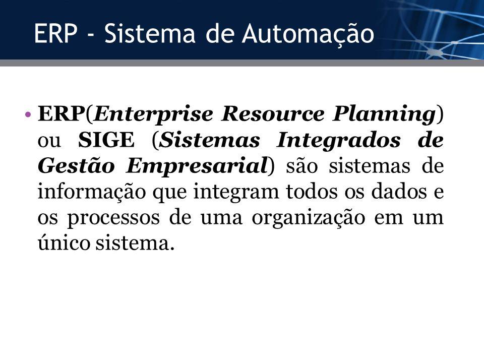 ERP - Sistema de Automação
