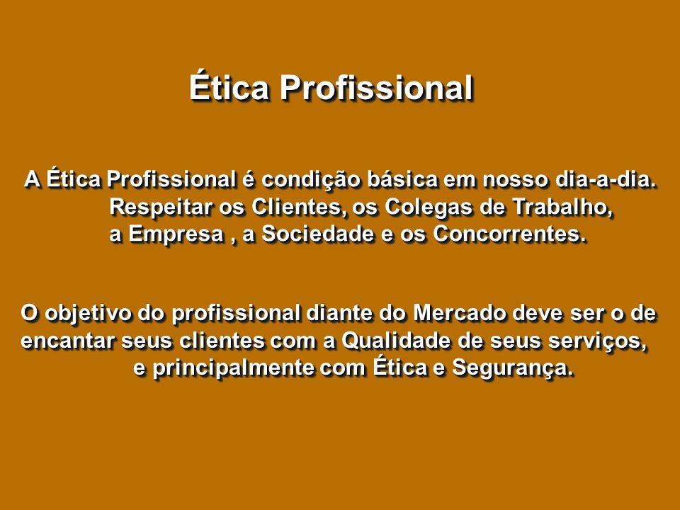Ética Profissional A Ética Profissional é condição básica em nosso dia-a-dia.