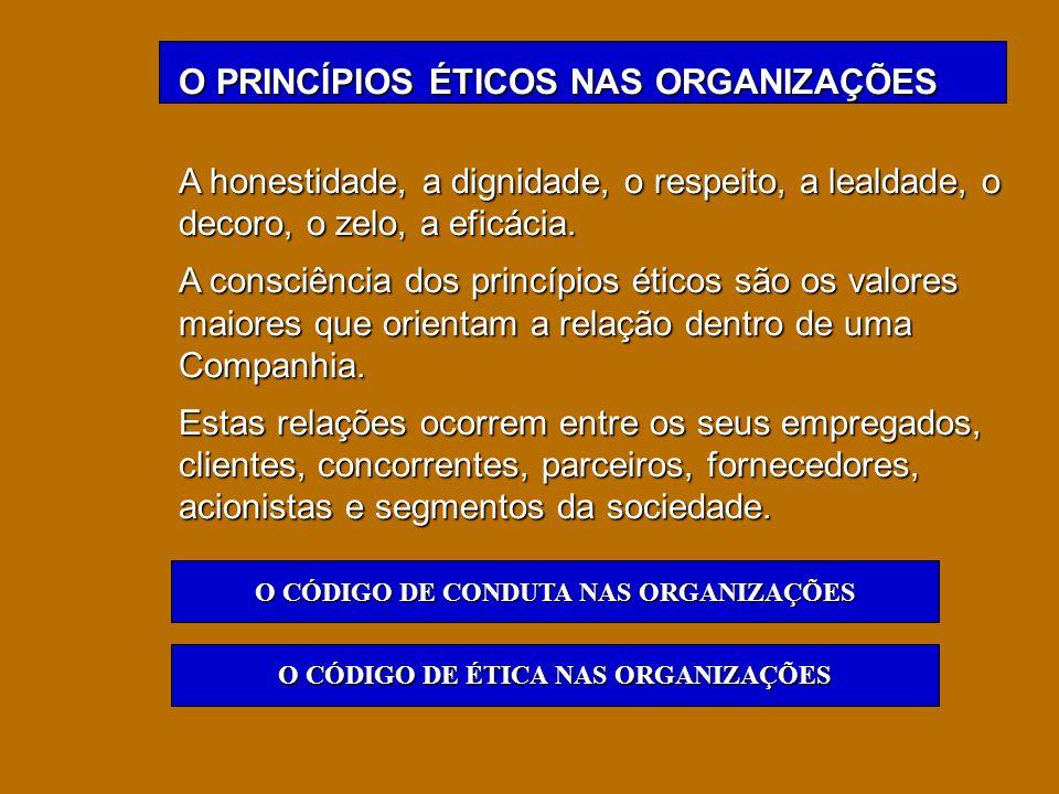 O PRINCÍPIOS ÉTICOS NAS ORGANIZAÇÕES