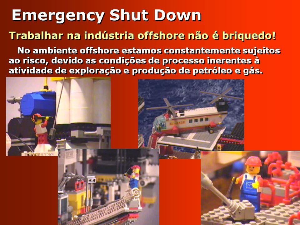 Emergency Shut Down Trabalhar na indústria offshore não é briquedo!