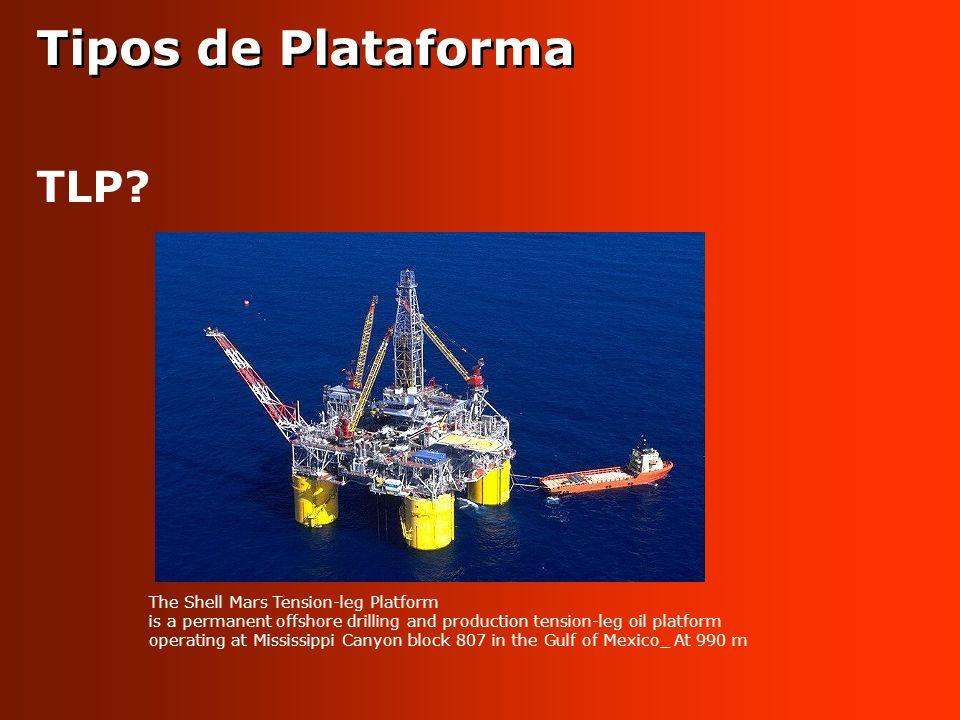 Tipos de Plataforma TLP The Shell Mars Tension-leg Platform
