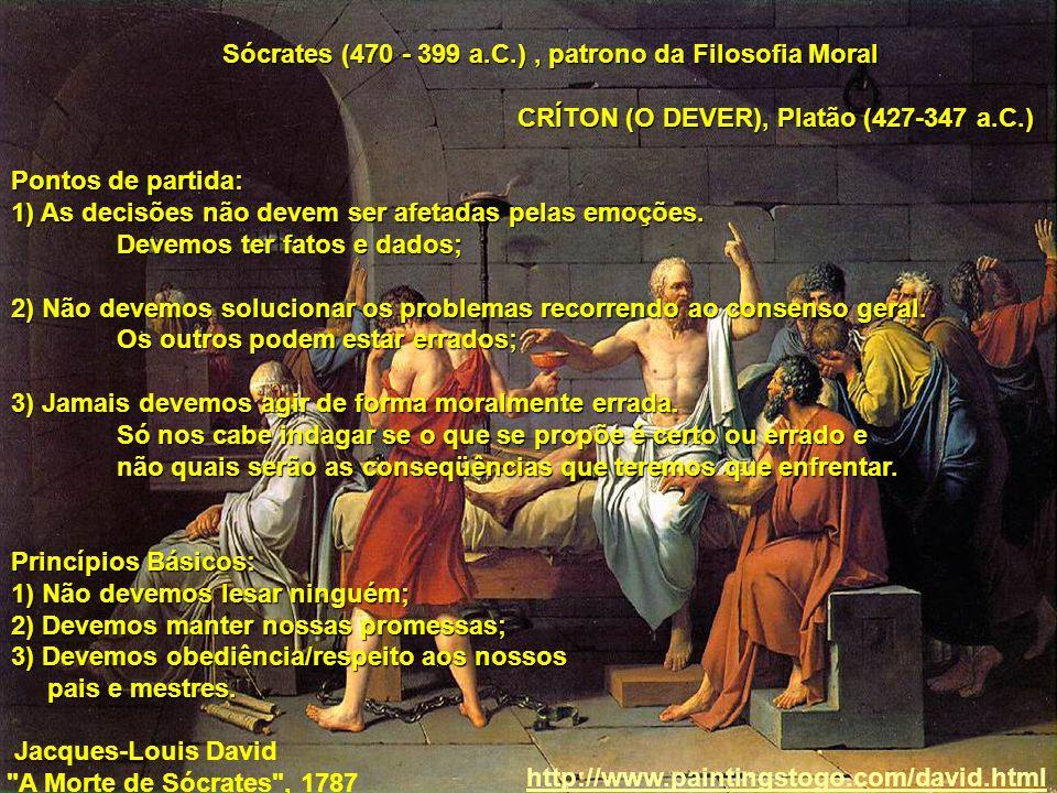 Sócrates (470 - 399 a.C.) , patrono da Filosofia Moral