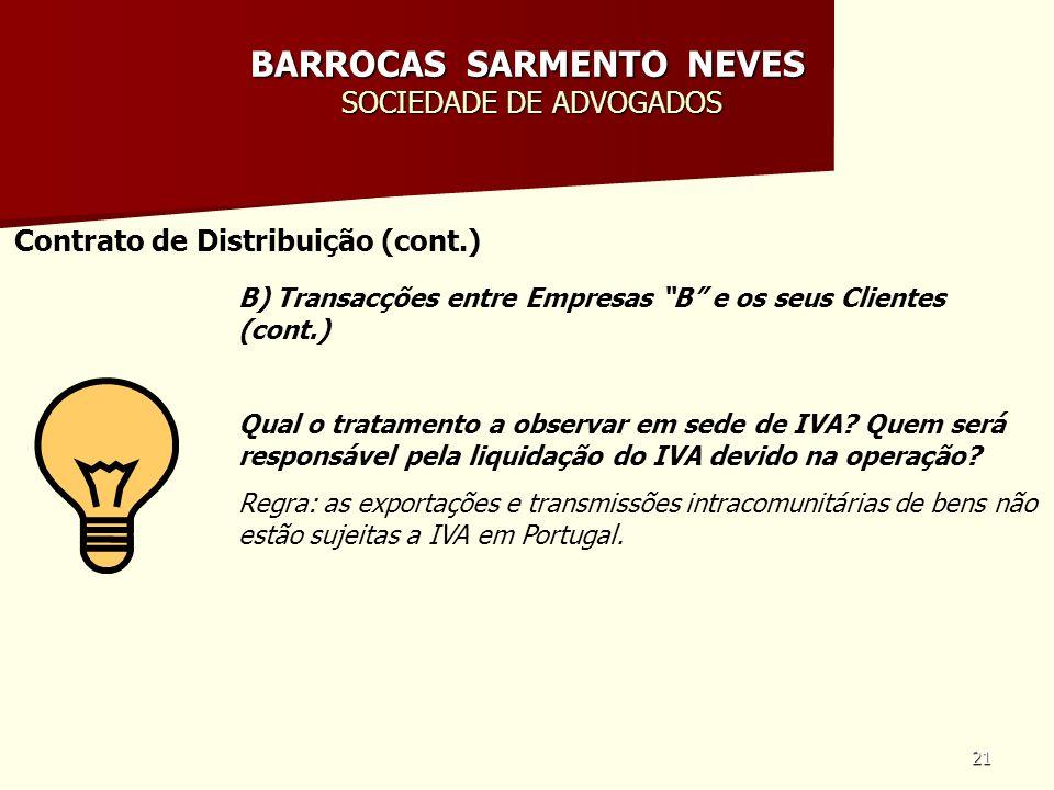 BARROCAS SARMENTO NEVES SOCIEDADE DE ADVOGADOS