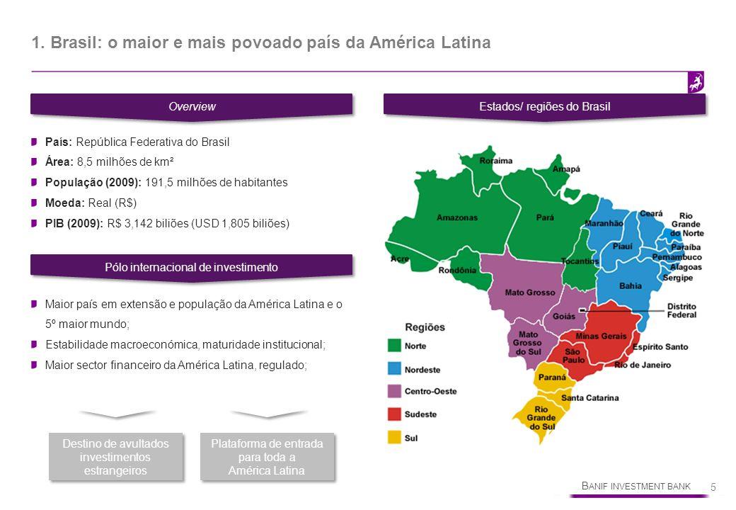 1. Brasil: o maior e mais povoado país da América Latina