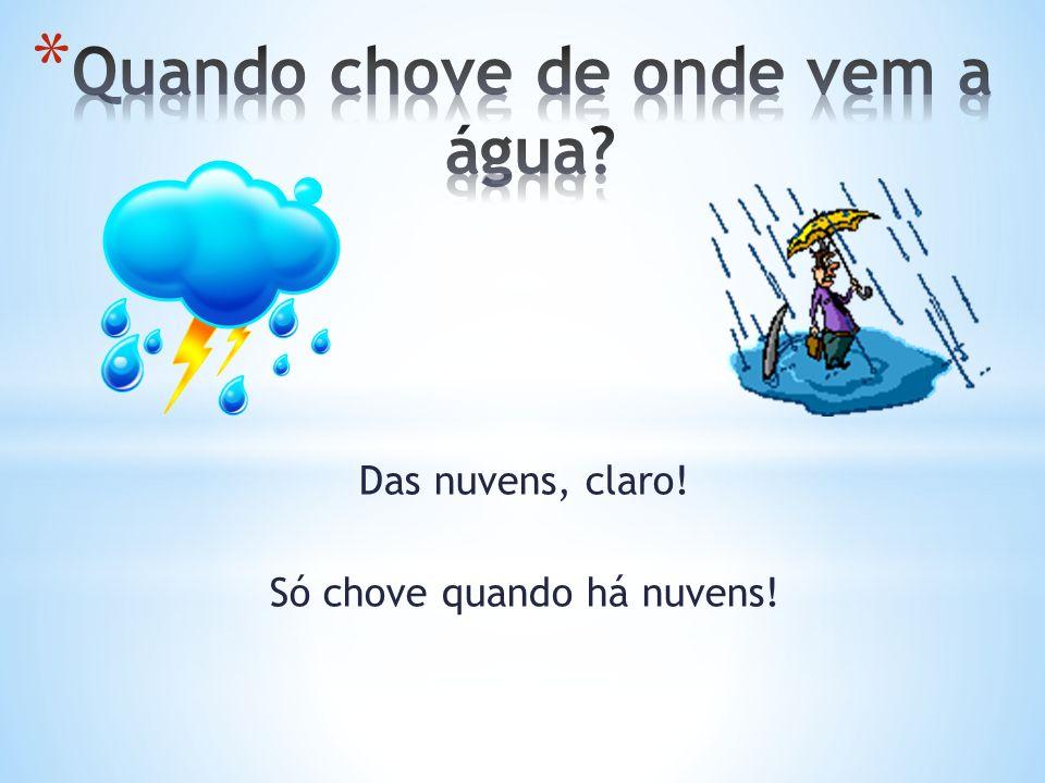 Quando chove de onde vem a água