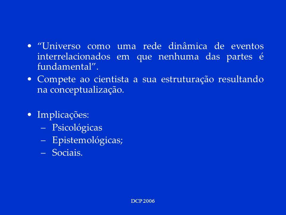 Universo como uma rede dinâmica de eventos interrelacionados em que nenhuma das partes é fundamental .