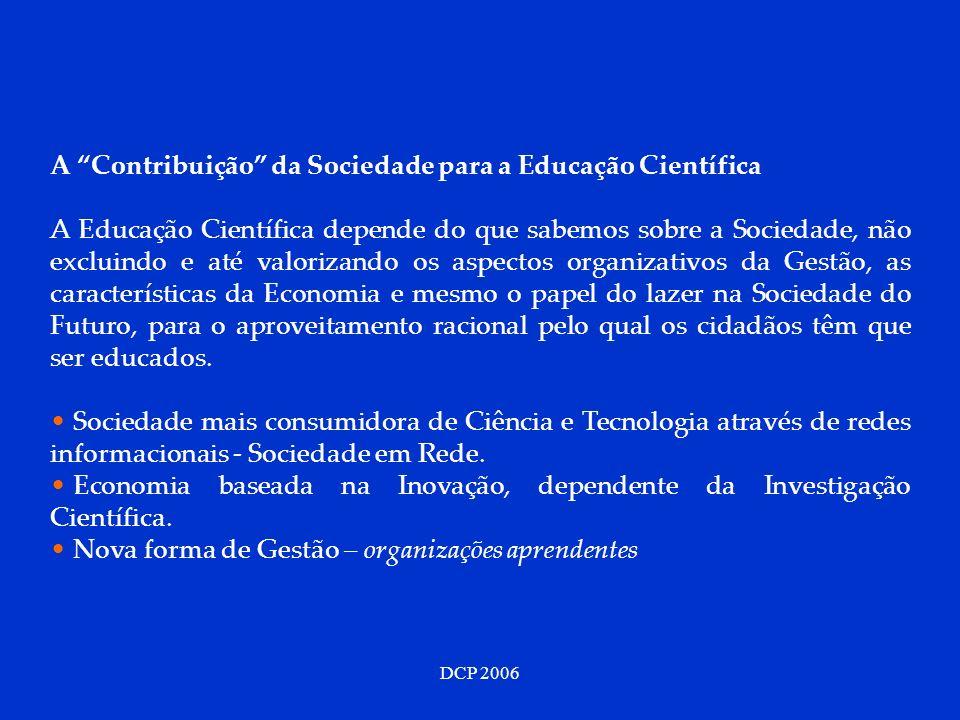 A Contribuição da Sociedade para a Educação Científica