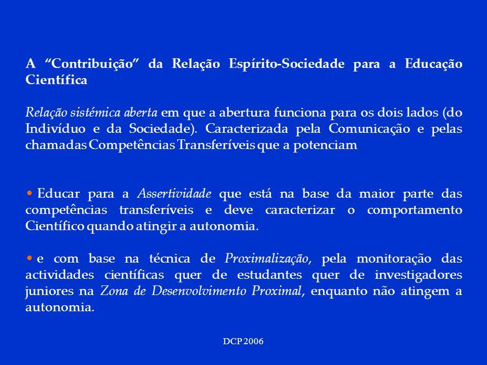 A Contribuição da Relação Espírito-Sociedade para a Educação Científica