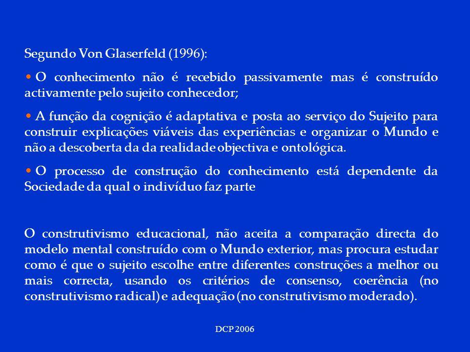 Segundo Von Glaserfeld (1996):