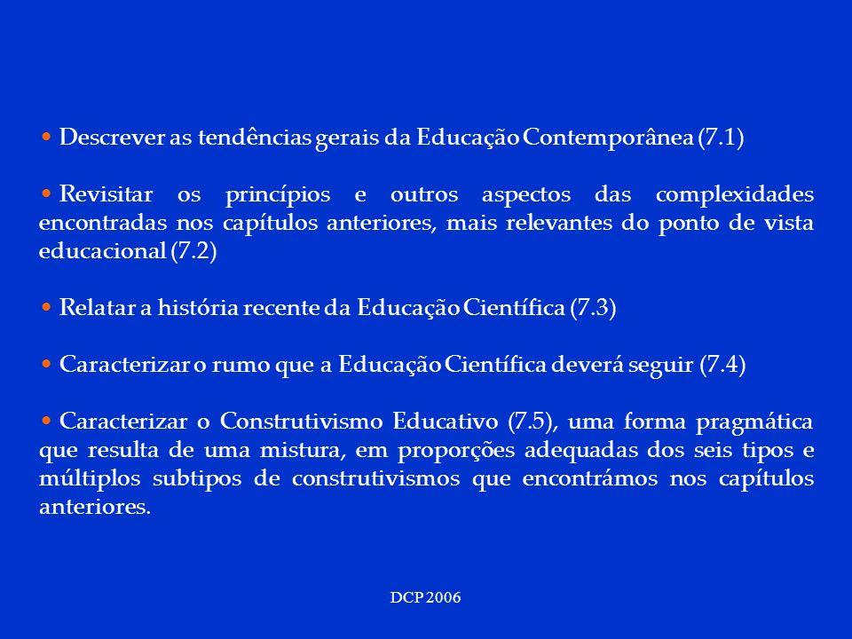 Descrever as tendências gerais da Educação Contemporânea (7.1)