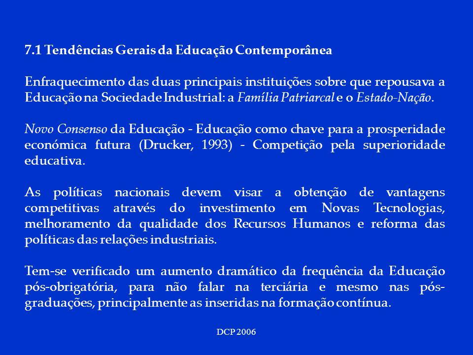 7.1 Tendências Gerais da Educação Contemporânea