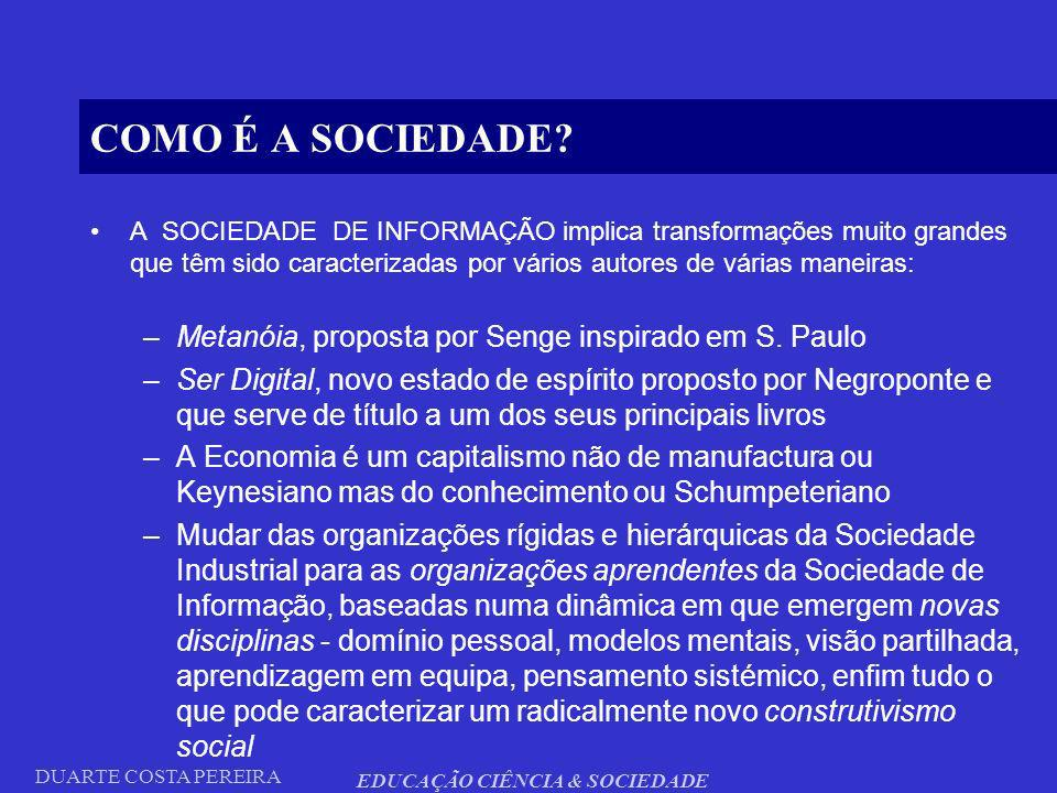 EDUCAÇÃO CIÊNCIA & SOCIEDADE