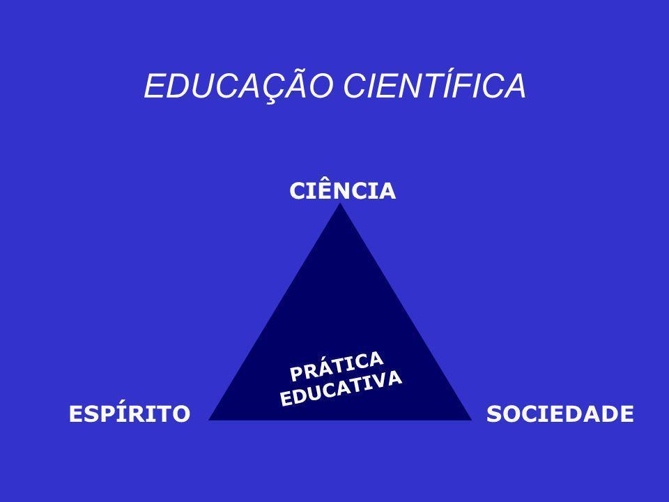 EDUCAÇÃO CIENTÍFICA CIÊNCIA PRÁTICA EDUCATIVA ESPÍRITO SOCIEDADE