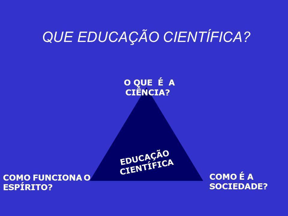 QUE EDUCAÇÃO CIENTÍFICA