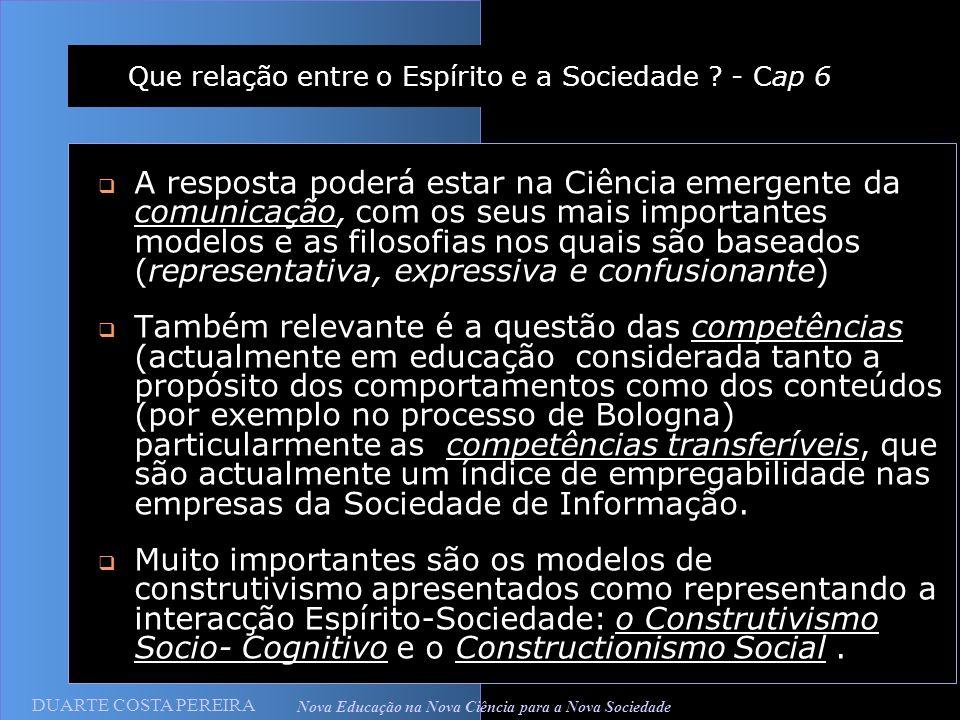 Que relação entre o Espírito e a Sociedade - Cap 6