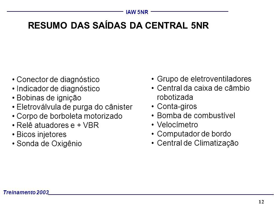 RESUMO DAS SAÍDAS DA CENTRAL 5NR