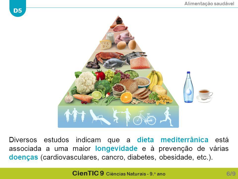 Diversos estudos indicam que a dieta mediterrânica está associada a uma maior longevidade e à prevenção de várias doenças (cardiovasculares, cancro, diabetes, obesidade, etc.).
