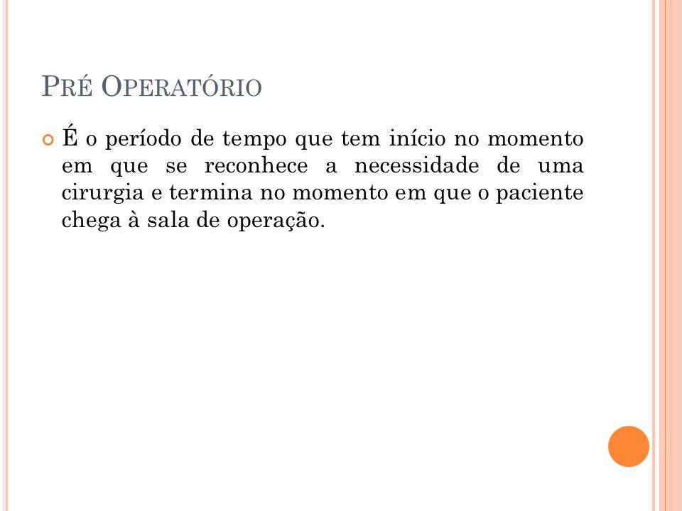 Pré Operatório
