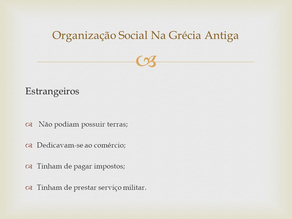 Organização Social Na Grécia Antiga