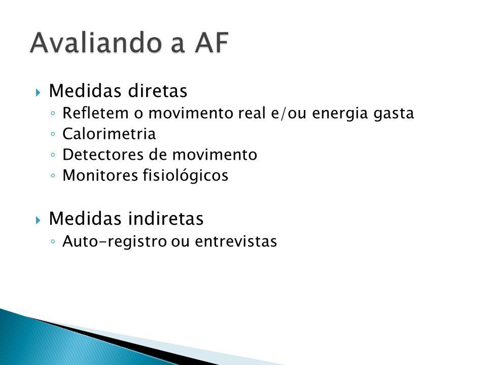 Avaliando a AF Medidas diretas Medidas indiretas