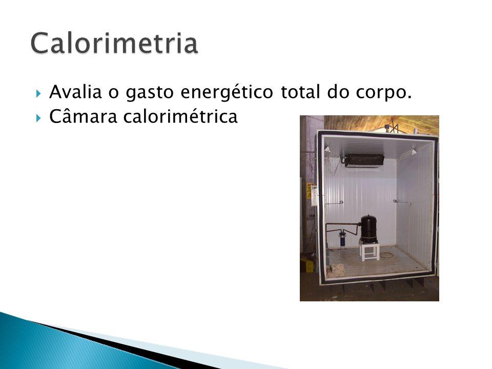 Calorimetria Avalia o gasto energético total do corpo.