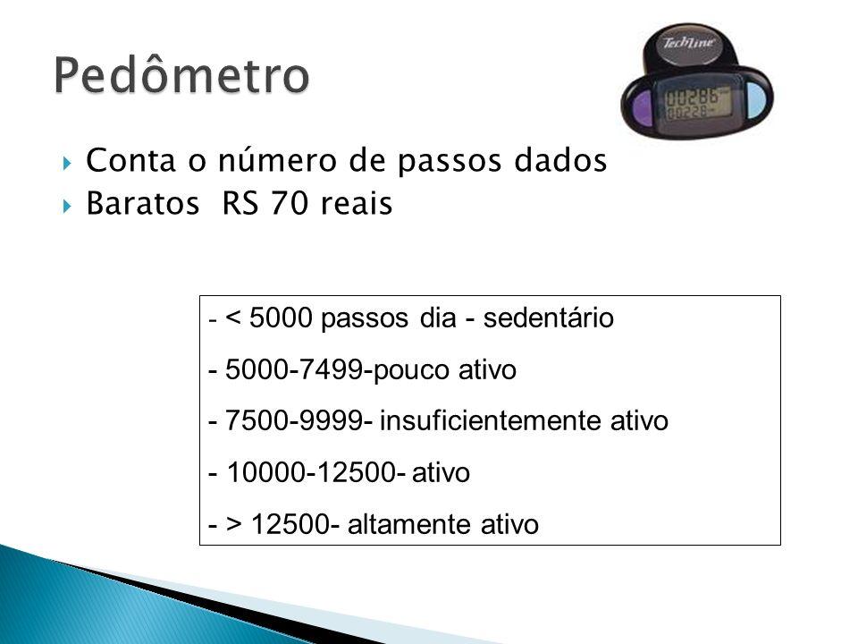 Pedômetro Conta o número de passos dados Baratos RS 70 reais
