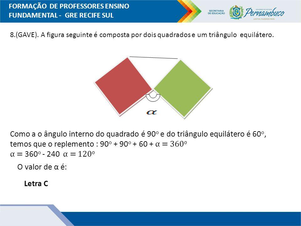 FORMAÇÃO DE PROFESSORES ENSINO FUNDAMENTAL - GRE RECIFE SUL