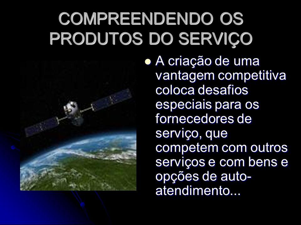 COMPREENDENDO OS PRODUTOS DO SERVIÇO