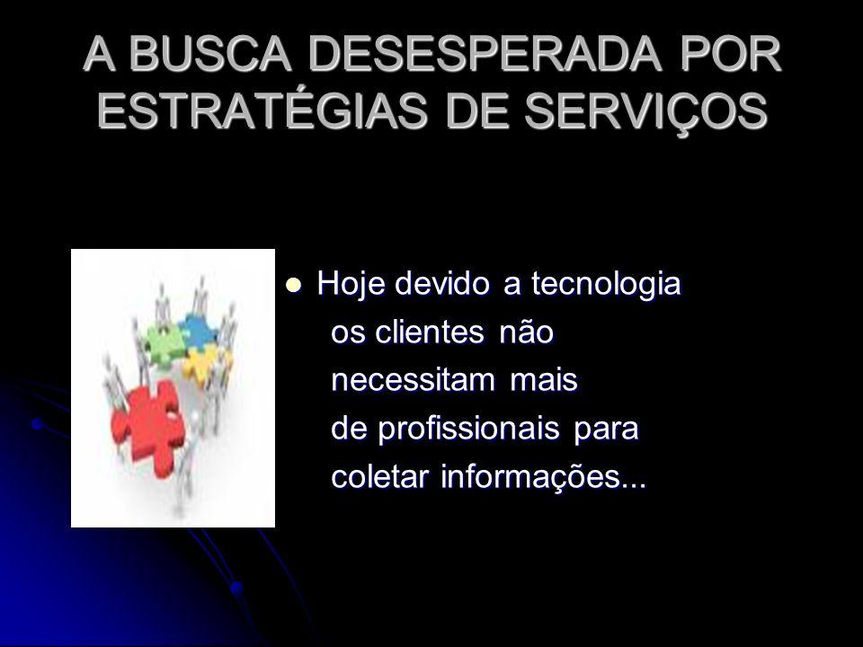 A BUSCA DESESPERADA POR ESTRATÉGIAS DE SERVIÇOS