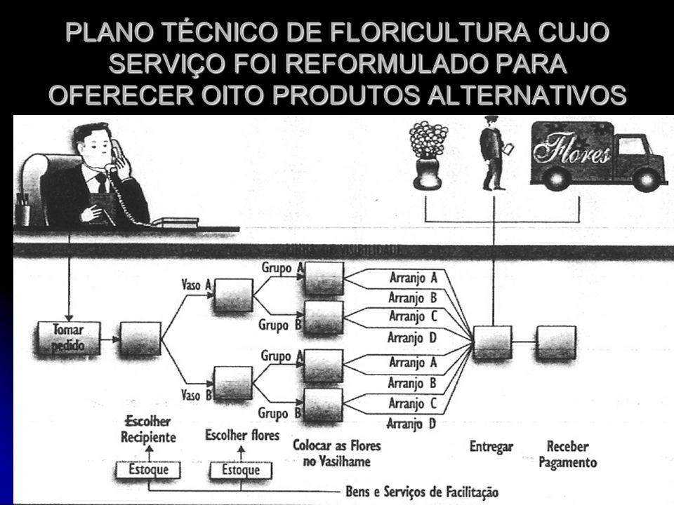 PLANO TÉCNICO DE FLORICULTURA CUJO SERVIÇO FOI REFORMULADO PARA OFERECER OITO PRODUTOS ALTERNATIVOS