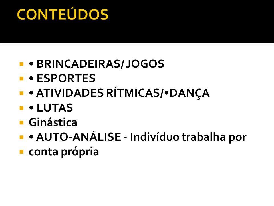 CONTEÚDOS • BRINCADEIRAS/ JOGOS • ESPORTES