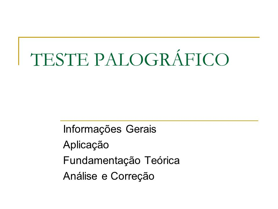 Informações Gerais Aplicação Fundamentação Teórica Análise e Correção