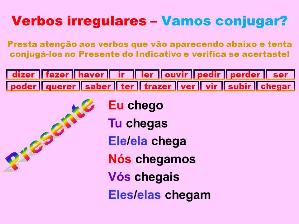 Verbos irregulares – Vamos conjugar